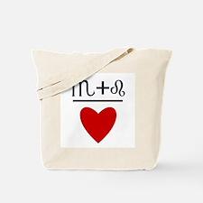 Scorpio + Leo = Love Tote Bag