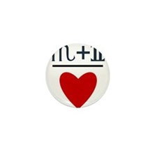 Scorpio + Gemini = Love Mini Button (10 pack)
