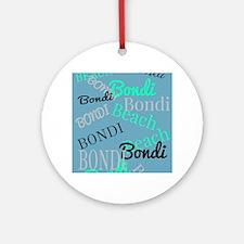 Bondi Beach! Beachy Blue Ornament (Round)