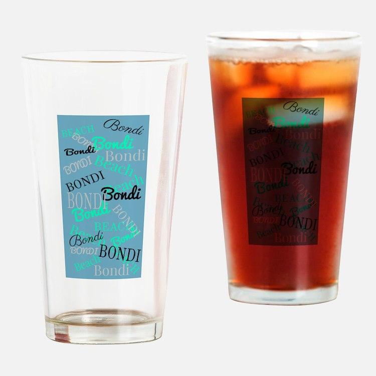 Bondi Beach! Beachy Blue Drinking Glass