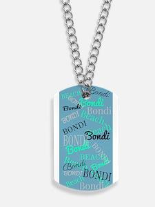Bondi Beach! Beachy Blue Dog Tags