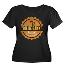 Bakken Oil Dark Plus Size T-Shirt
