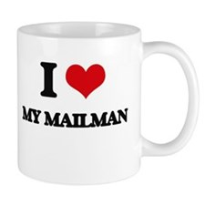 I Love My Mailman Mugs