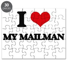 I Love My Mailman Puzzle