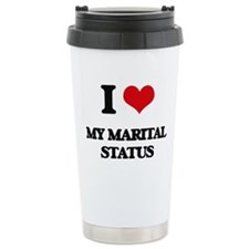 I Love My Marital Statu Travel Mug