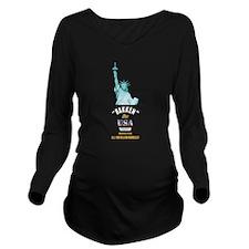 Bakken Oil Dark Long Sleeve Maternity T-Shirt