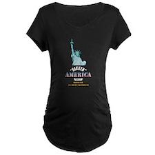 Bakken Oil Dark Maternity T-Shirt