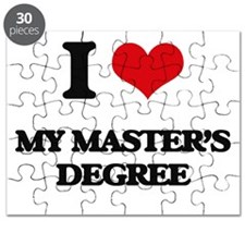 I Love My Master'S Degree Puzzle