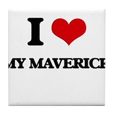 I Love My Maverick Tile Coaster