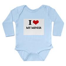 I Love My Miner Body Suit