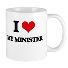I Love My Minister Mugs