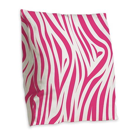 Pink Zebra Print Decorative Pillows : Pink Zebra Print Burlap Throw Pillow by MainstreetHomewares2