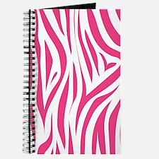 Pink Zebra Print Journal