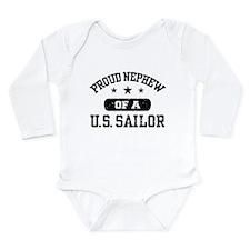 Cute Us navy Long Sleeve Infant Bodysuit