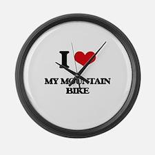 I Love My Mountain Bike Large Wall Clock