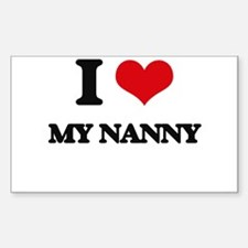 I Love My Nanny Decal