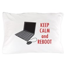 KEEP CALM AND REBBOT Pillow Case