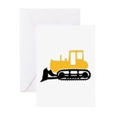 Bulldozer Greeting Card