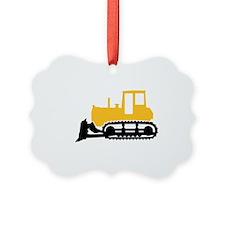 Bulldozer Picture Ornament