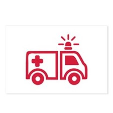 Ambulance car Postcards (Package of 8)