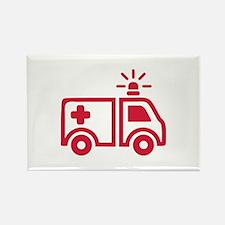 Ambulance car Rectangle Magnet
