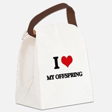 I Love My Offspring Canvas Lunch Bag