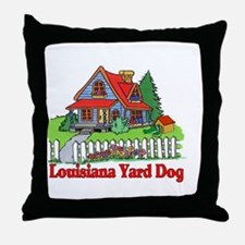 Louisiana Yard Dog Throw Pillow