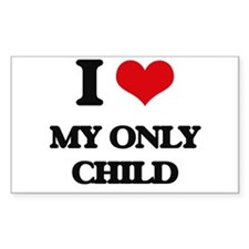 I Love My Only Child Decal