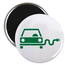 "Green electric car 2.25"" Magnet (10 pack)"