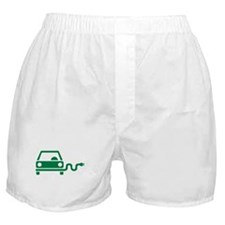 Green electric car Boxer Shorts
