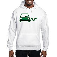 Green electric car Hoodie