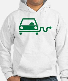 Green electric car Hoodie