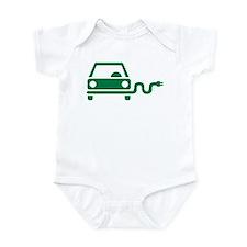 Green electric car Infant Bodysuit