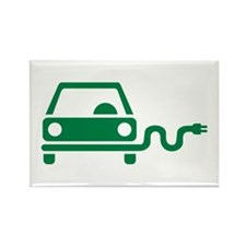 Green electric car Rectangle Magnet