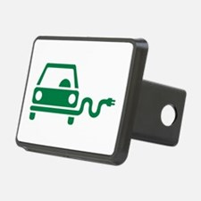 Green electric car Hitch Cover