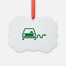 Green electric car Ornament