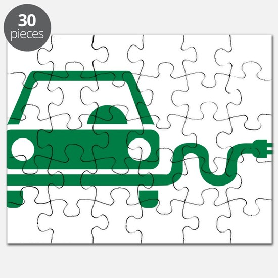 Green electric car Puzzle