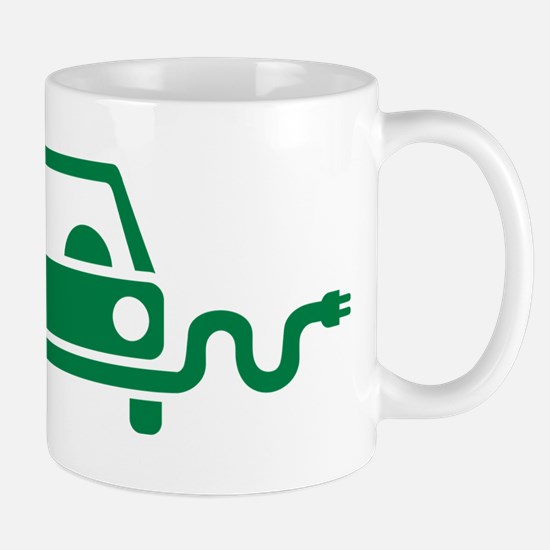 Green electric car Mug