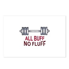 ALL BUFF NO FLUFF Postcards (Package of 8)