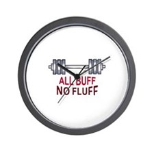 ALL BUFF NO FLUFF Wall Clock