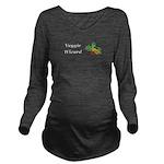 Veggie Wizard Long Sleeve Maternity T-Shirt