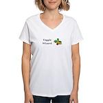 Veggie Wizard Women's V-Neck T-Shirt