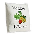 Veggie Wizard Burlap Throw Pillow