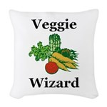 Veggie Wizard Woven Throw Pillow