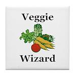 Veggie Wizard Tile Coaster