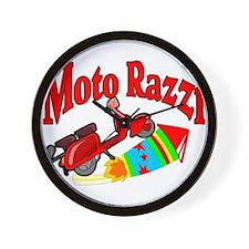 Moto Razzi Wall Clock