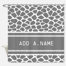 Personalized Name Animal Print Shower Curtain