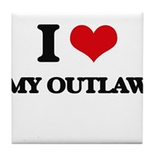 I Love My Outlaw Tile Coaster