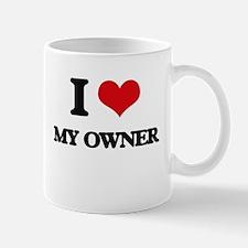 I Love My Owner Mugs