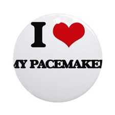 I Love My Pacemaker Ornament (Round)